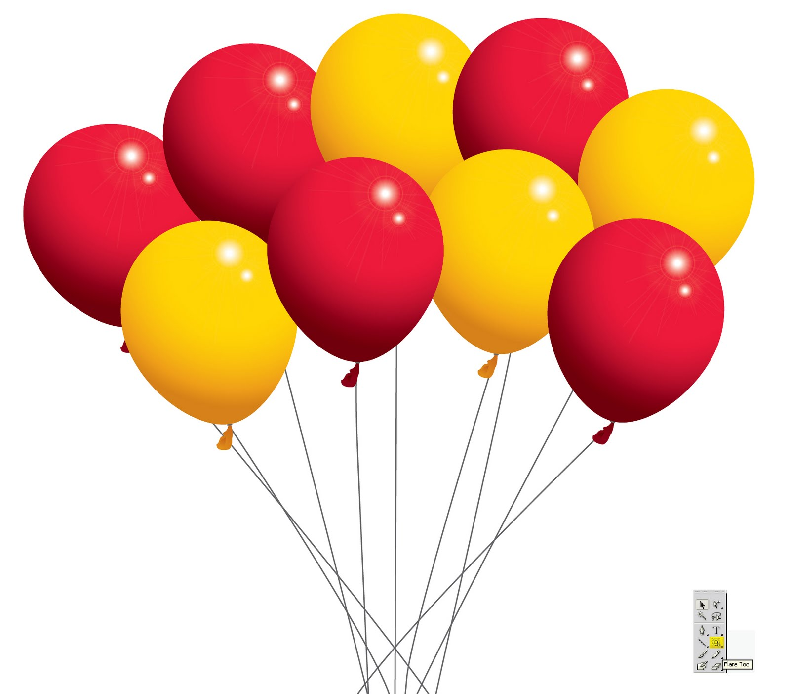 Balloon Borders Clipart