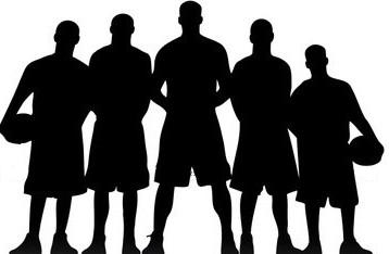Basketball Team Silhouette Clip Art