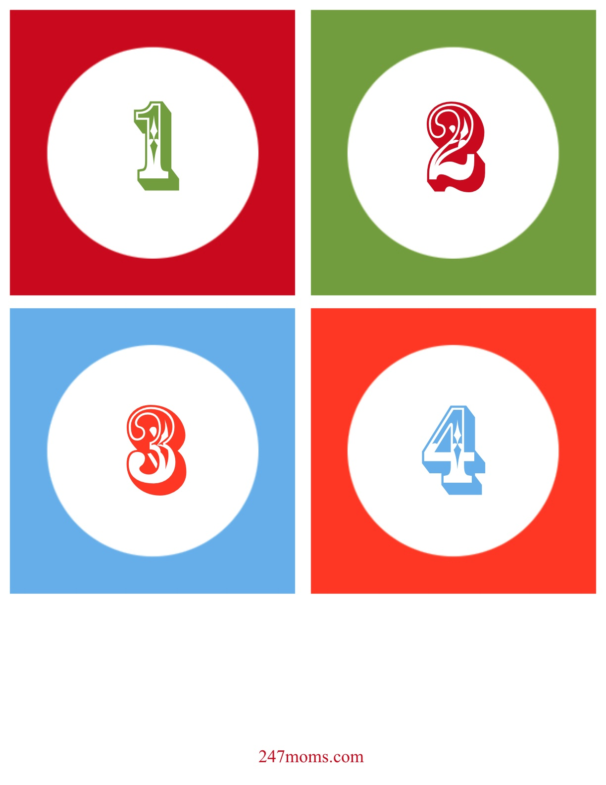 Christmas Numbers Clipart - Clipart Kid