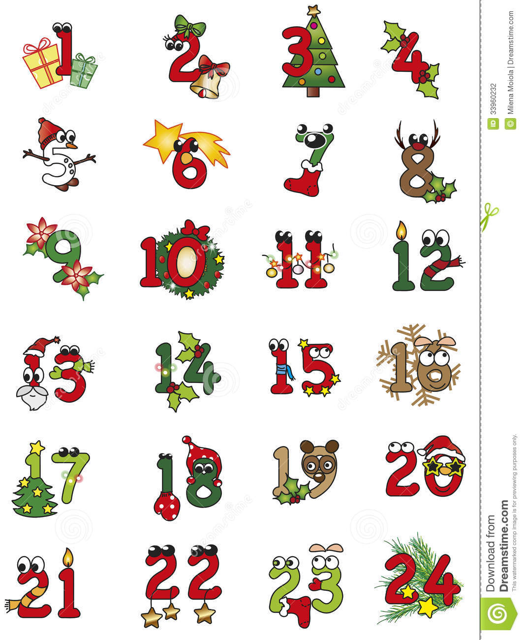Christmas Numbers Stock Photography   Image  33960232