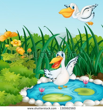 Duck Pond Game Clipart Illustration Of A Pond With
