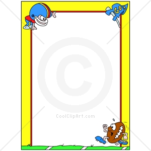 Football Border Clip Art Images   Pictures   Becuo