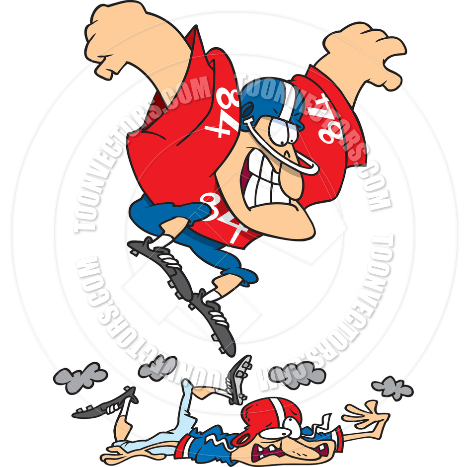 Football Player Tackling Cartoon Clipart Panda Free Clipart Images ...