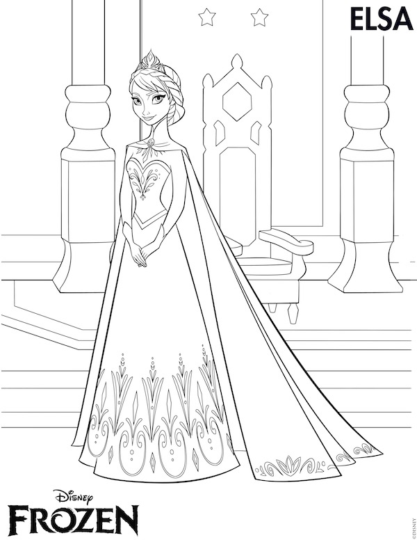 Frozen Printables  Free Frozen Printables Coloring Pages Elsa Crown