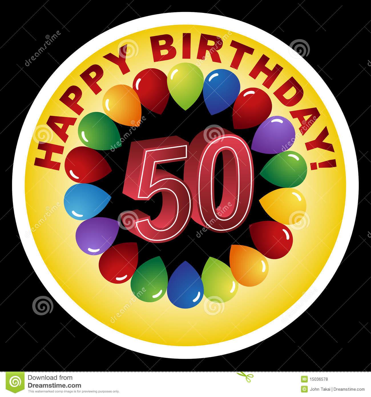 Happy 50th Birthday Clipart
