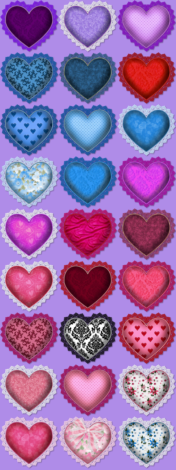Hearts Psp Tubes Heart Clipart Valentines Fancy Lace