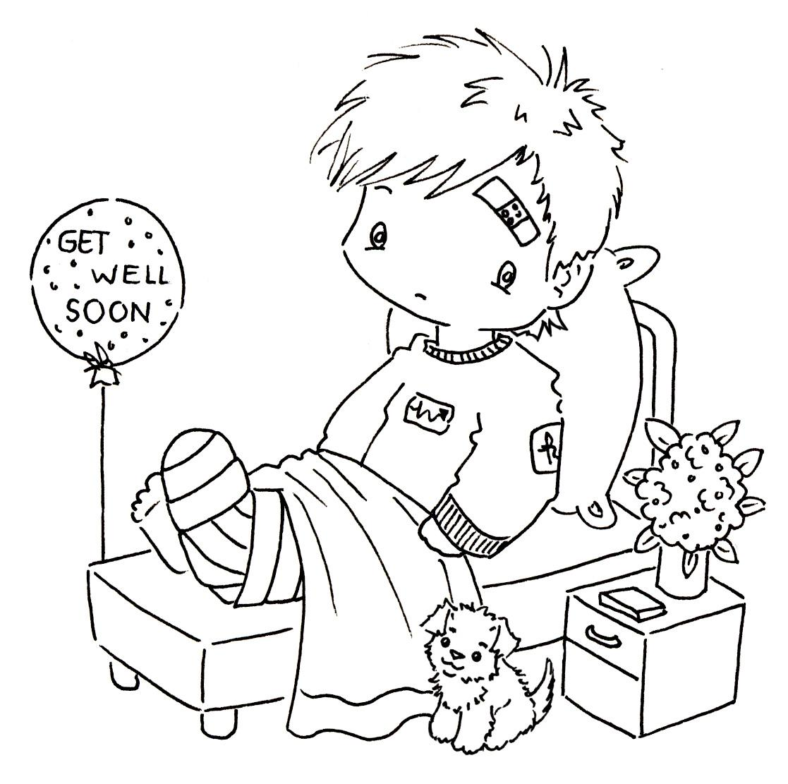 The Words Get Well Soon Colouring Pages