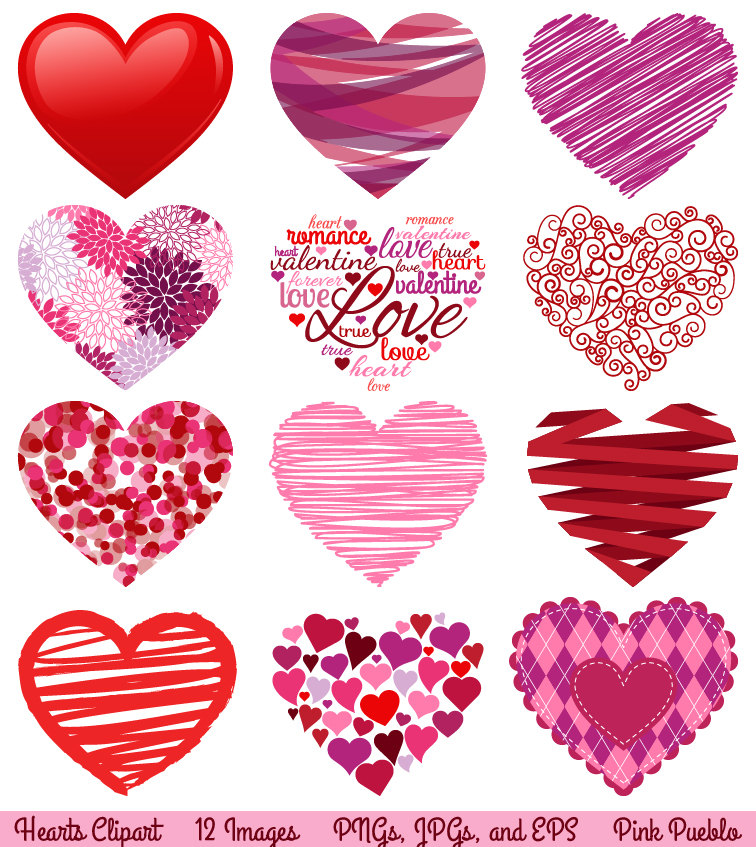 Valentine S Day Hearts Clipart Clip Art Love Clipart By Pinkpueblo