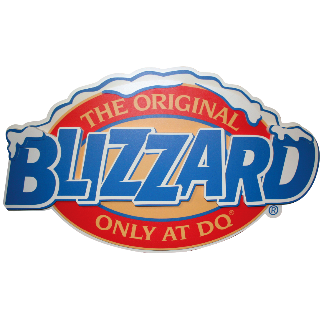 Blizzard Logo Large   Dimensional   In Store Signage