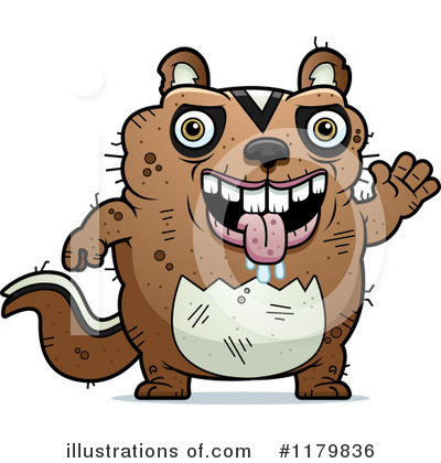 Chipmunk Clipart  1179836 By Cory Thoman   Royalty Free  Rf  Stock
