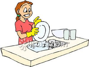 Clean Dishes Clipart   Cliparthut   Free Clipart