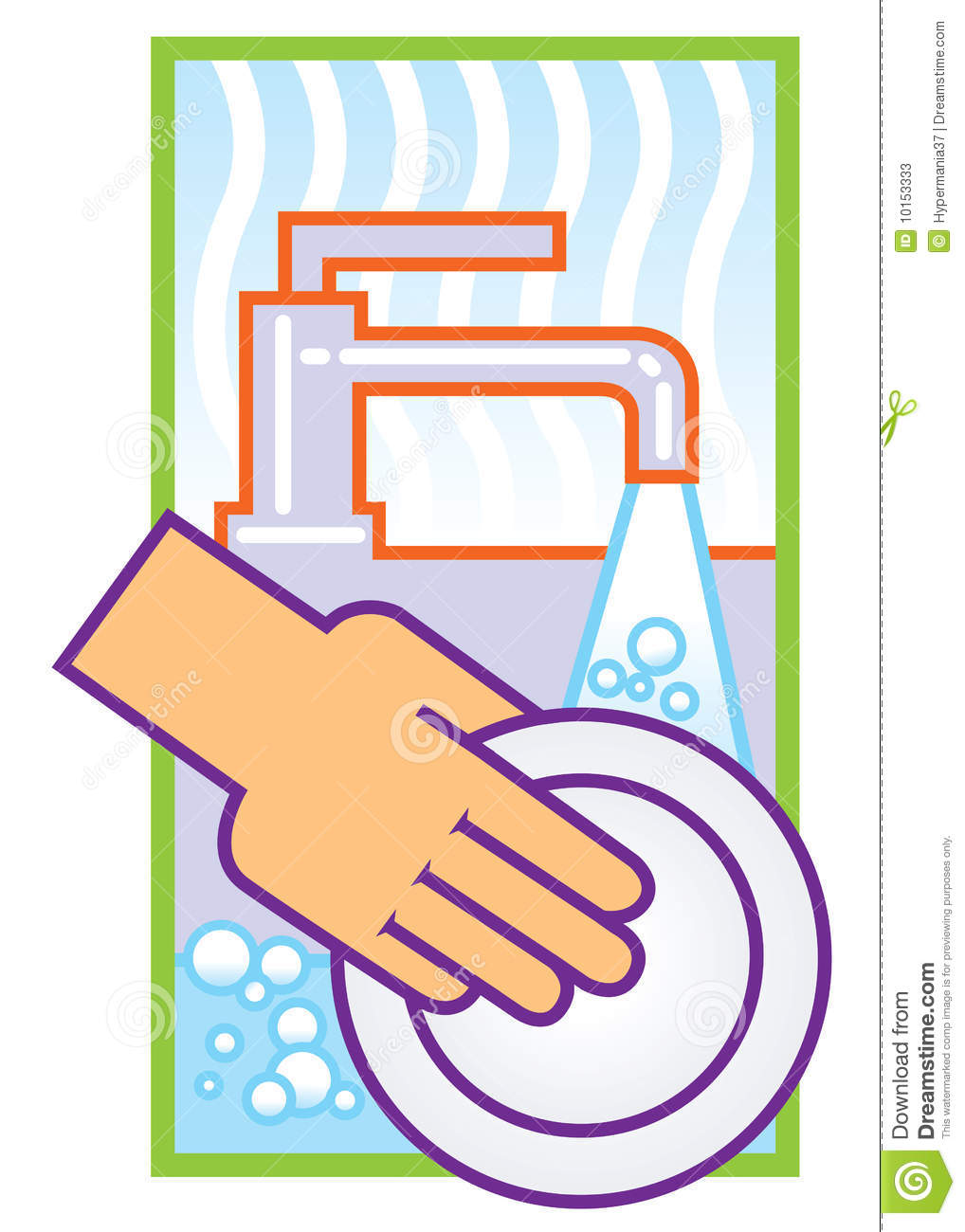 Clean Dishes Clipart Washing Dishes