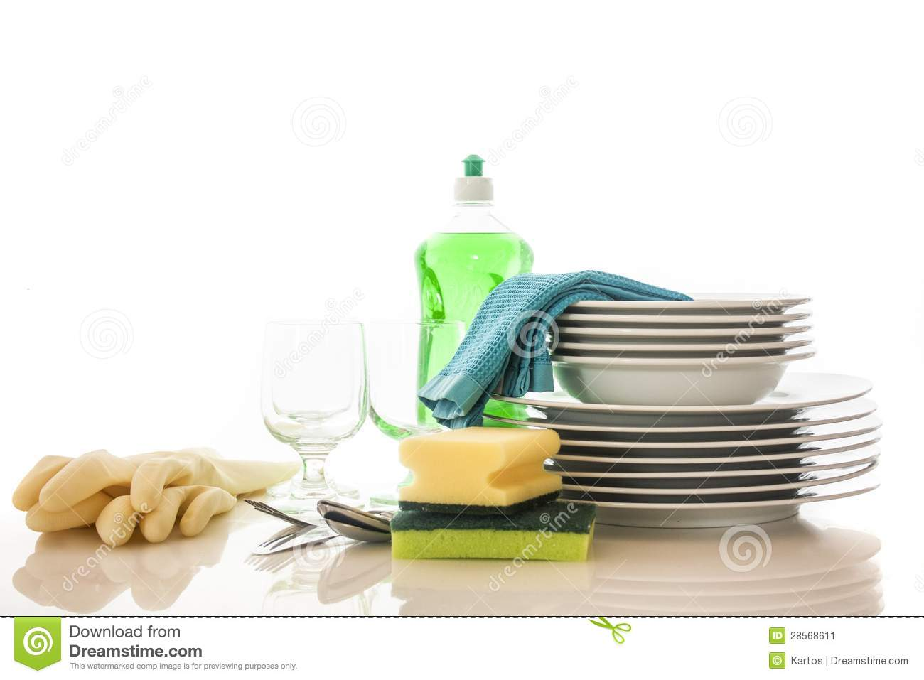 Clean Dishes Stock Image   Image  28568611
