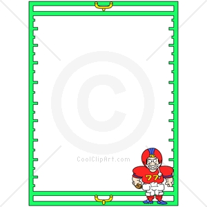 Coolclipart Com   Clip Art For  Borders Football Sports   Image Id