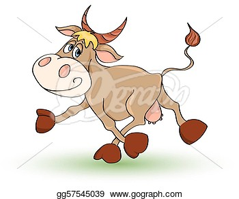 Cow  Isolated On White  Illustration   Clipart Illustrations