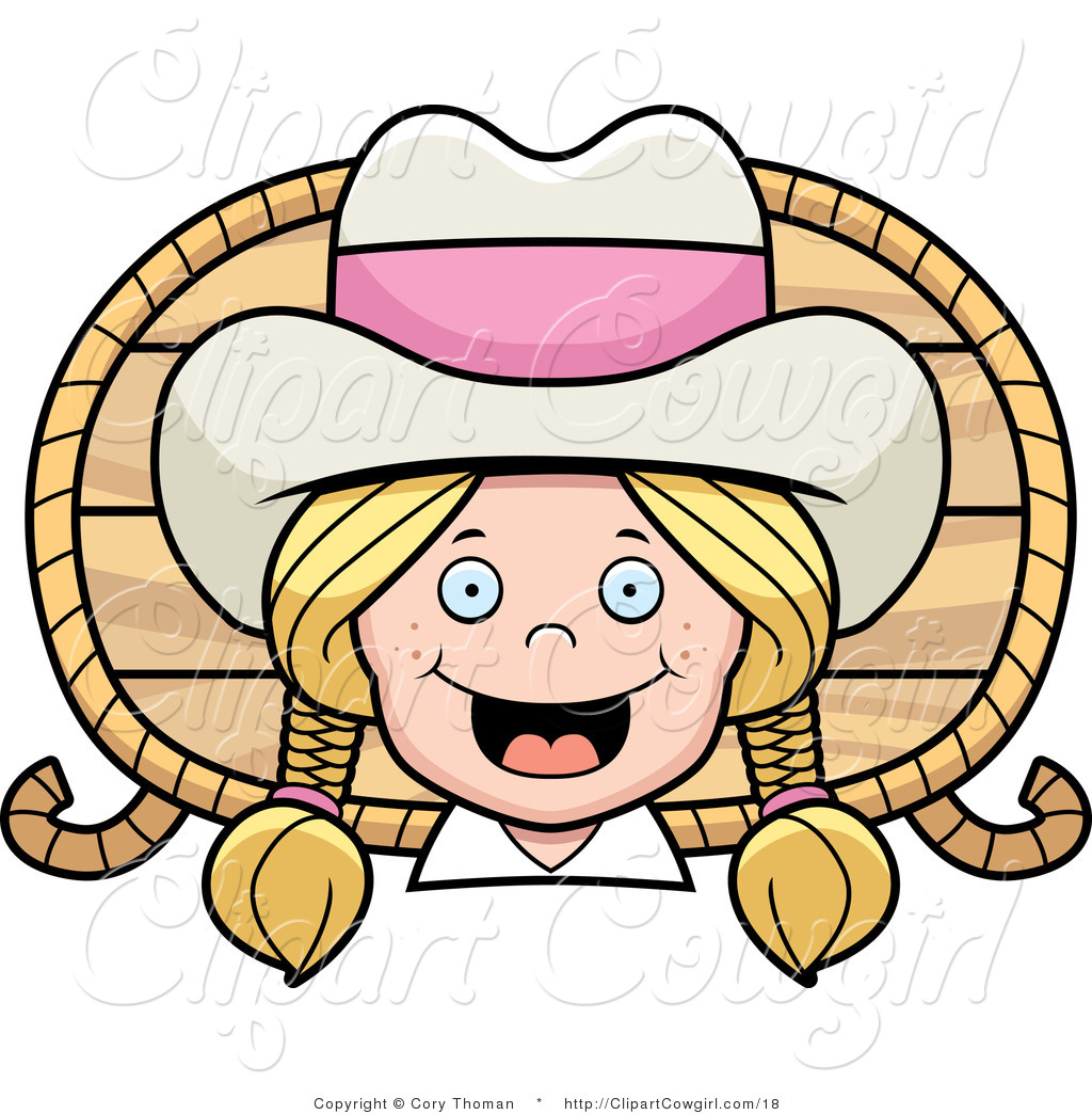 Cowgirl Wearing A Hat With A Pink Band Against A Wood Panel With Ropes