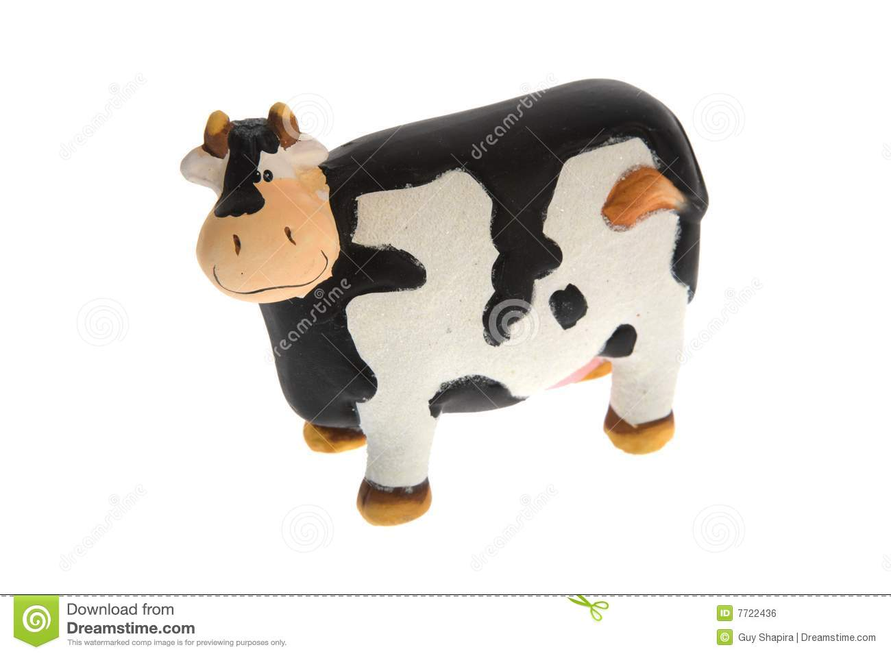 Crazy Toy Cow Royalty Free Stock Image   Image  7722436