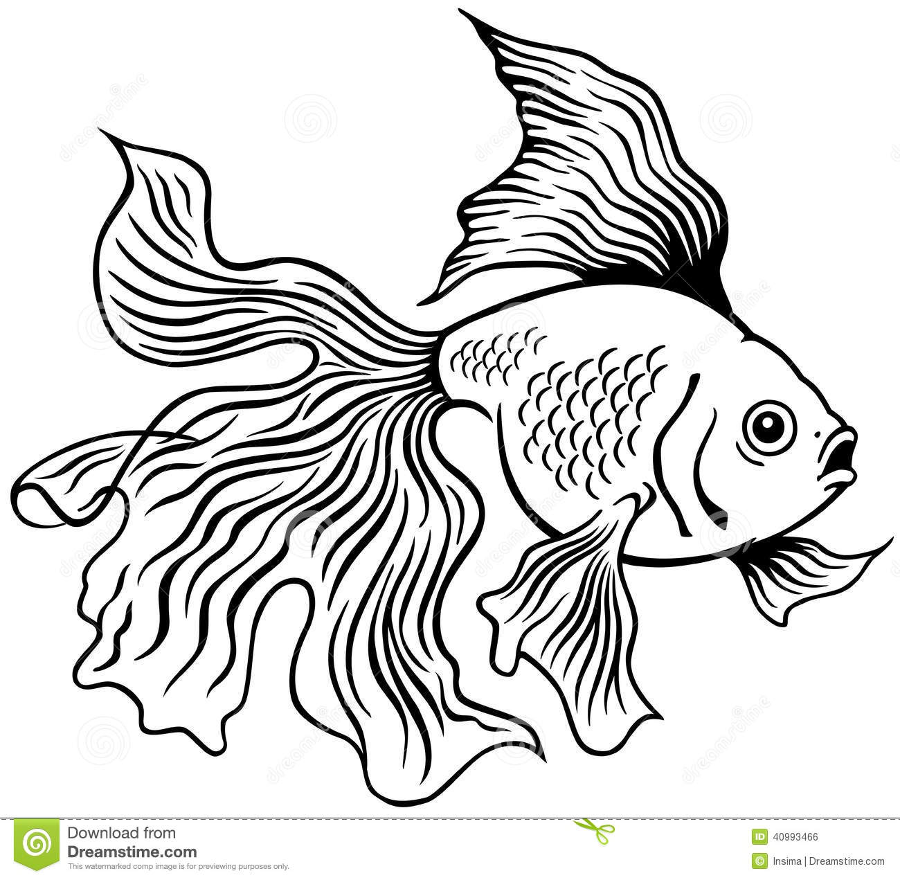 Goldfish Clip Art Black And White Images & Pictures - Becuo