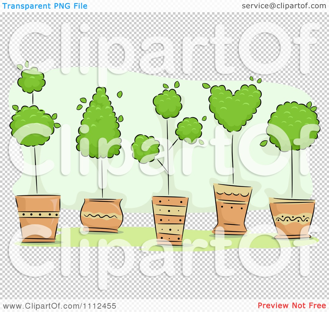 Potted Tree Clipart Clipart Potted Topiary Trees