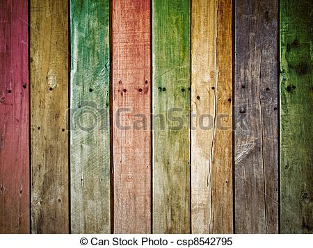 Stock Images Of Old Grunge Wood Panel   Colorful Old Grunge Wood Panel