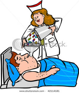 Throat Clipart A Nurse Pouring Pills Down A Patients Throat 120225