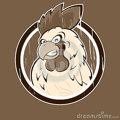 Angry Cartoon Rooster Icon Royalty Free Stock Images   Image  25252799