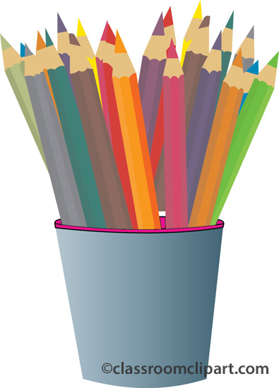 Colored Pencils Clipart - Synkee