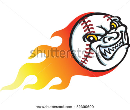Baseball Flame Stock Vector 52300609   Shutterstock