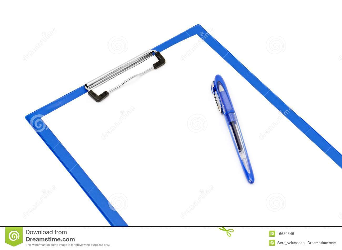 Clipboard And Ballpoint Pen Royalty Free Stock Image   Image  16630846