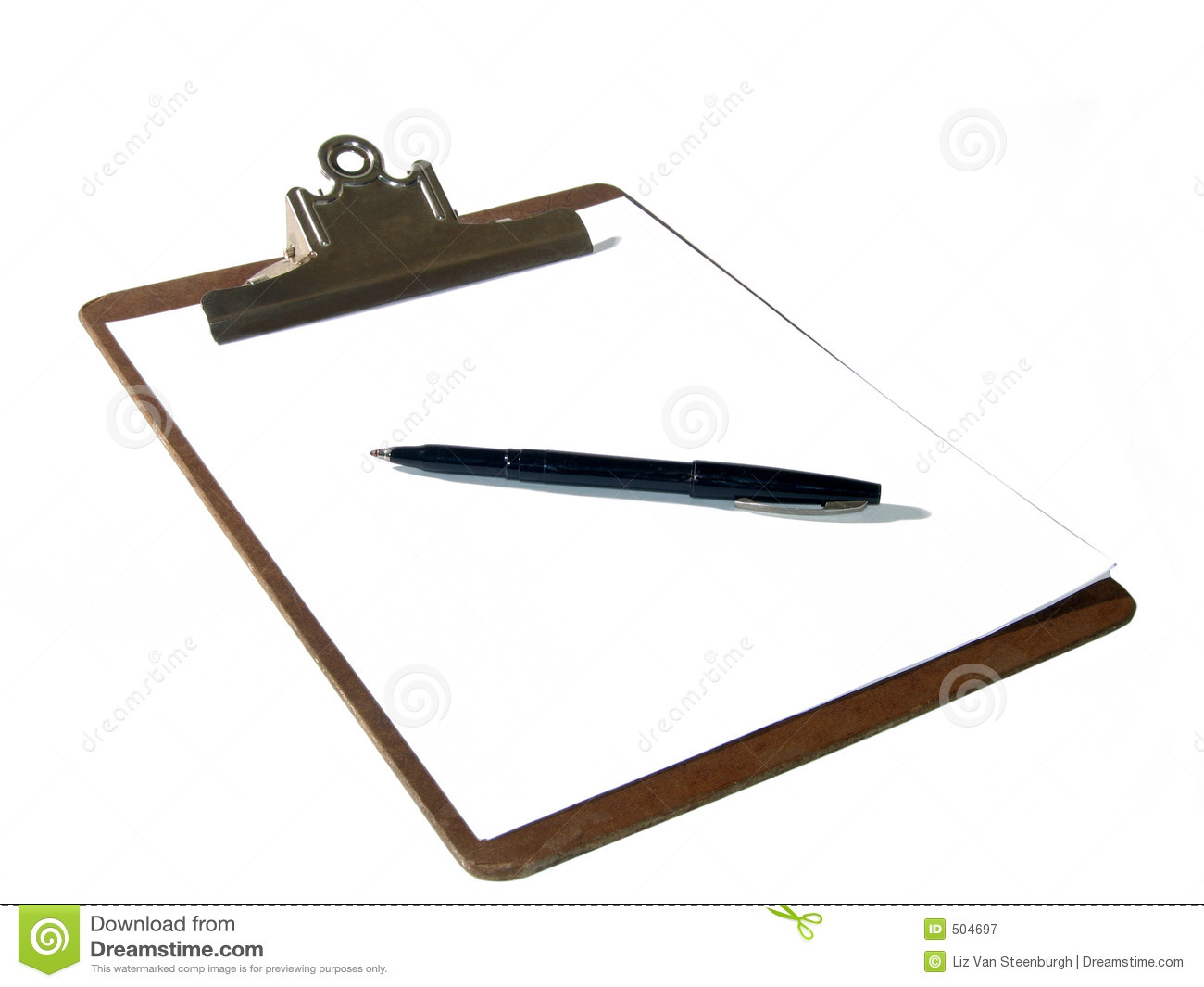 Clipboard And Pen Royalty Free Stock Photography   Image  504697