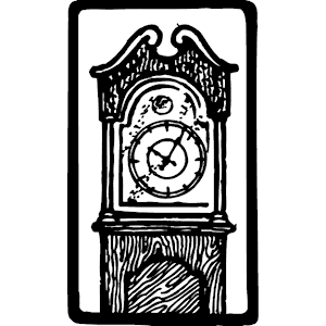 Clock   Grandfather Clipart Cliparts Of Clock   Grandfather Free