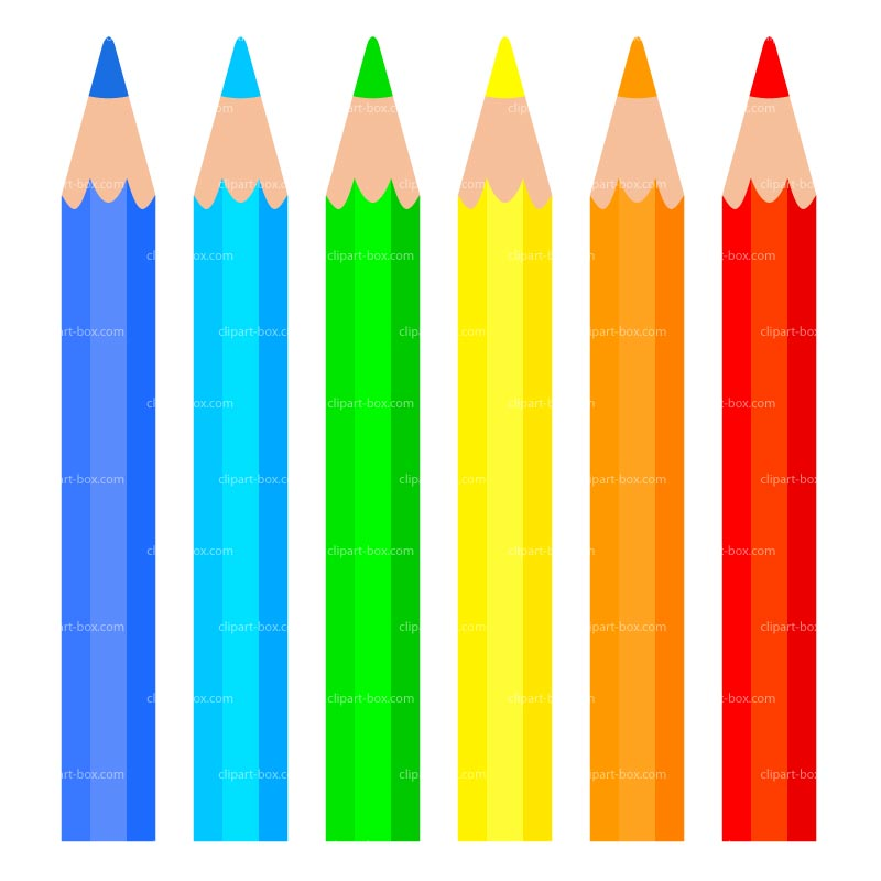 Colored Pencils Clipart - Clipart Kid