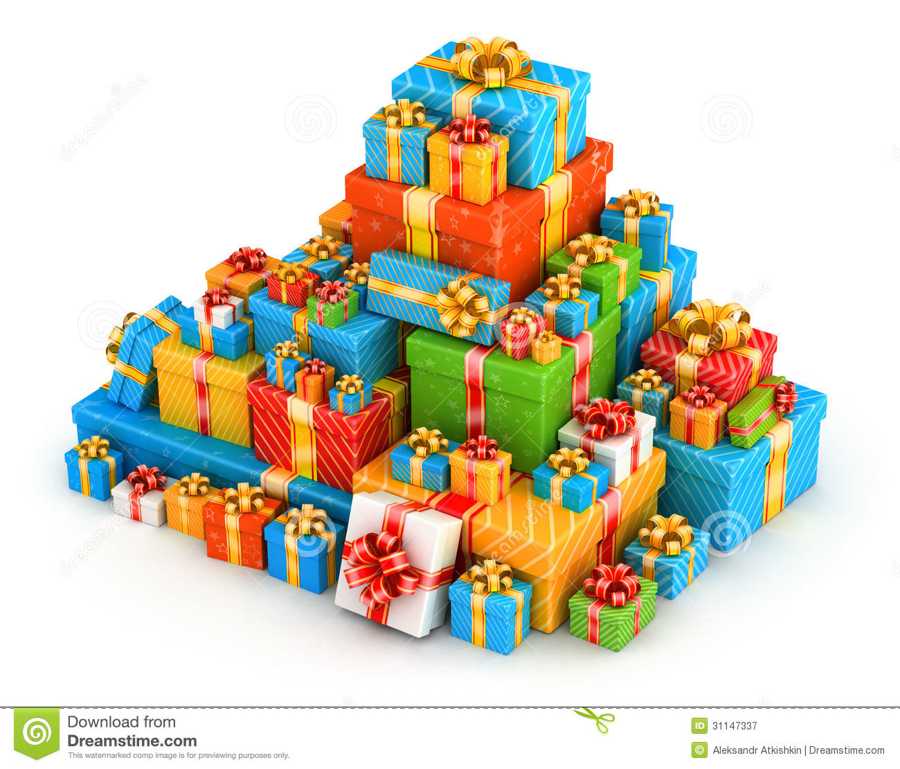 Displaying 20  Images For   Pile Of Birthday Presents Clipart