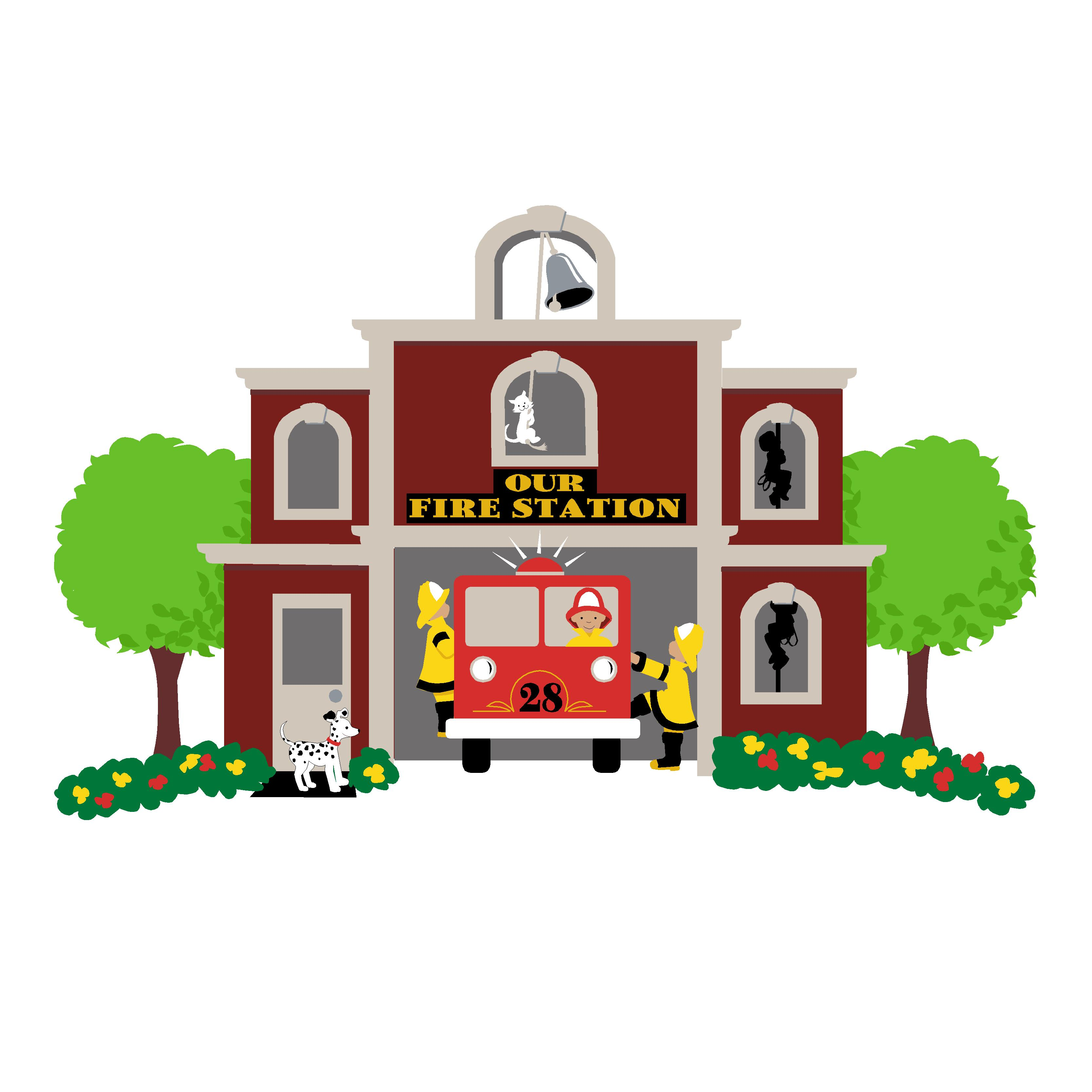 clip art of fire station - photo #10