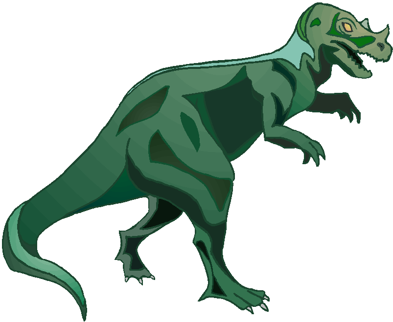 Green T Rex Free Animal Clipart