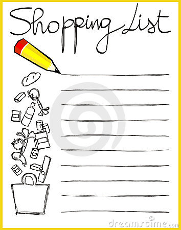 Grocery List Clipart Create Your Grocery List