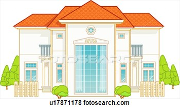 Modern Architecture House  Fotosearch   Search Eps Clip Art Drawings