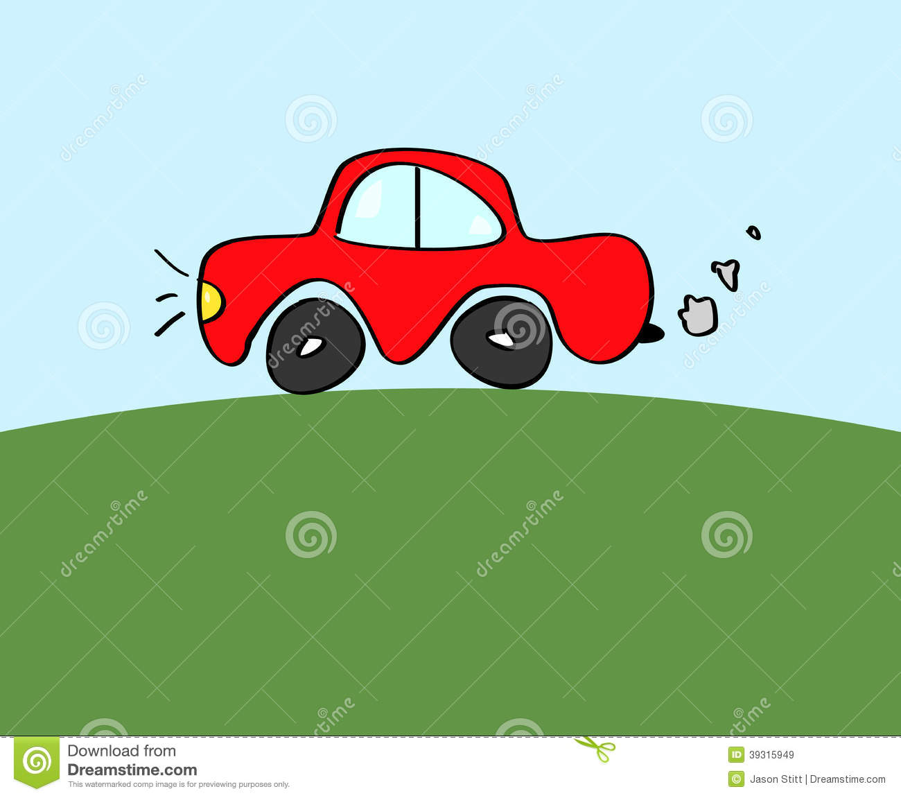 Red Car Doodle Stock Vector   Image  39315949