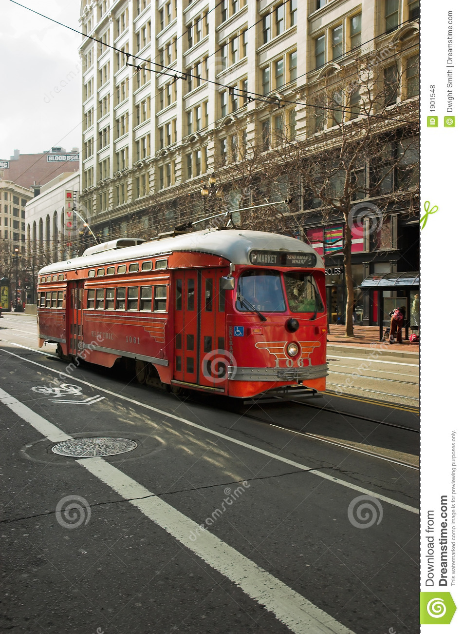 Red Trolley Royalty Free Stock Photos   Image  1901548