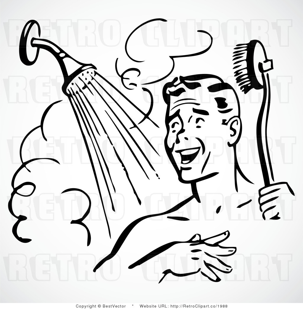 Take A Shower Clipart
