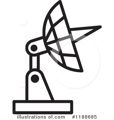 Satellite Dish Clipart  1188685 By Lal Perera   Royalty Free  Rf