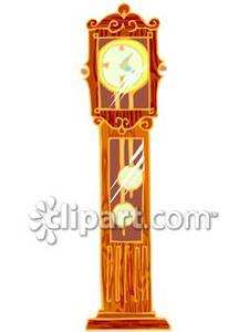 Tall Grandfather Clock   Royalty Free Clipart Picture