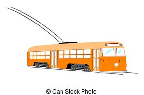 Trolley Car Stock Illustrations  1103 Trolley Car Clip Art Images And