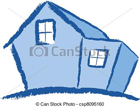 Vector Clipart Of Modern House Illustration   A Colourful Modern House