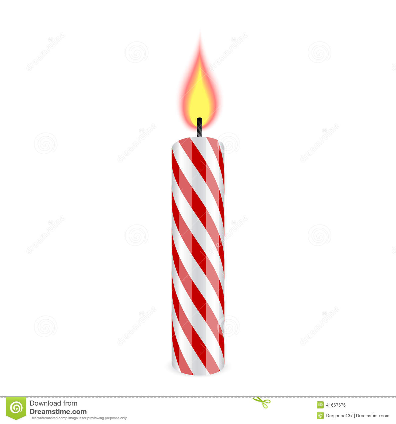 Birthday Candle Stock Vector   Image  41667676