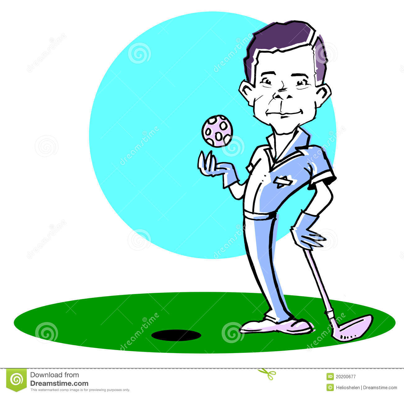 Caucasian Golfer Man  Clipart Royalty Free Stock Photography   Image