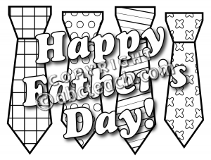Clip Art  Happy Father S Day Ties B W   Preview 1