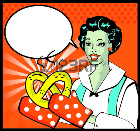 Clipart 26498945 Retro Woman With Hot Batch Retro Lady Cooking Retro