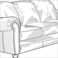 Couch Mobel Clip Art Back Of Couch Clipart