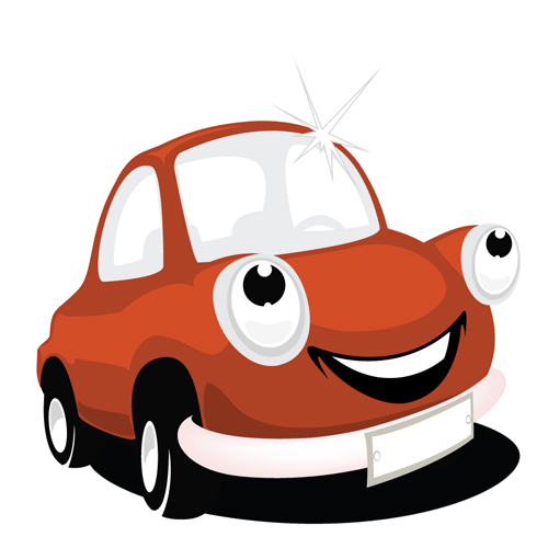 Funny Color Cartoon Cars Vector 03   Vector Card Vector Cartoon Free